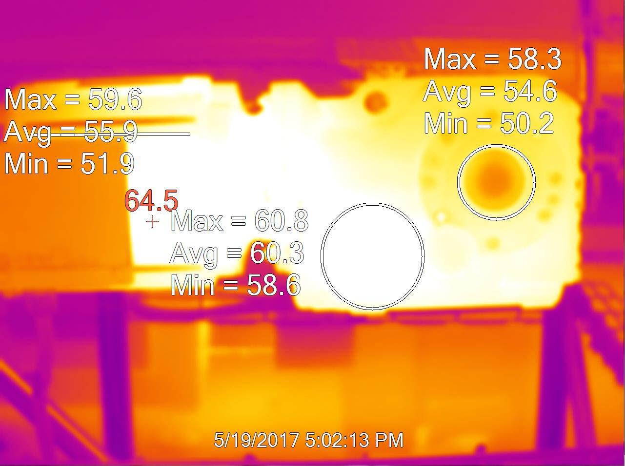 ตรวจเช็คเกียร์มอเตอร์ด้วยกล้องถ่ายภาพความร้อน